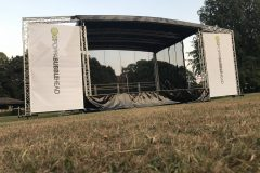 Outdoor Stage with banner